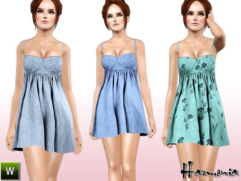 Harmonia's Bleach Wash Babydoll Dress