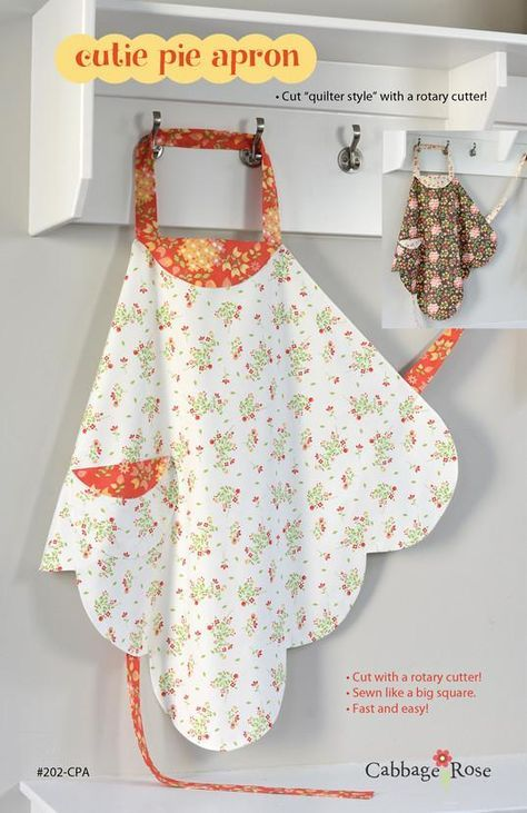 Cutie Pie Apron – downloadable PDF pattern | Sewing | Pinterest ...