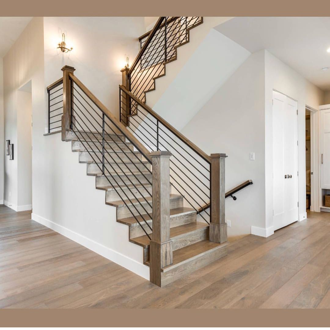 80 Modern Farmhouse Staircase Decor Ideas: Gorgeous Modern Farmhouse By @magleby_construction ! Photo