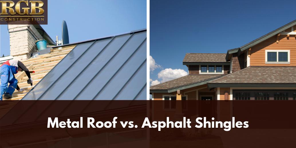 Metal Roof Vs Asphalt Shingles Metal Roof Shingling Asphalt Shingles