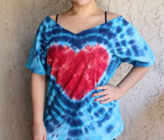 d20d70bd1b44de How to Make a Tie-Dye Heart Shirt | diy | Diy tie dye shirts, Tie ...