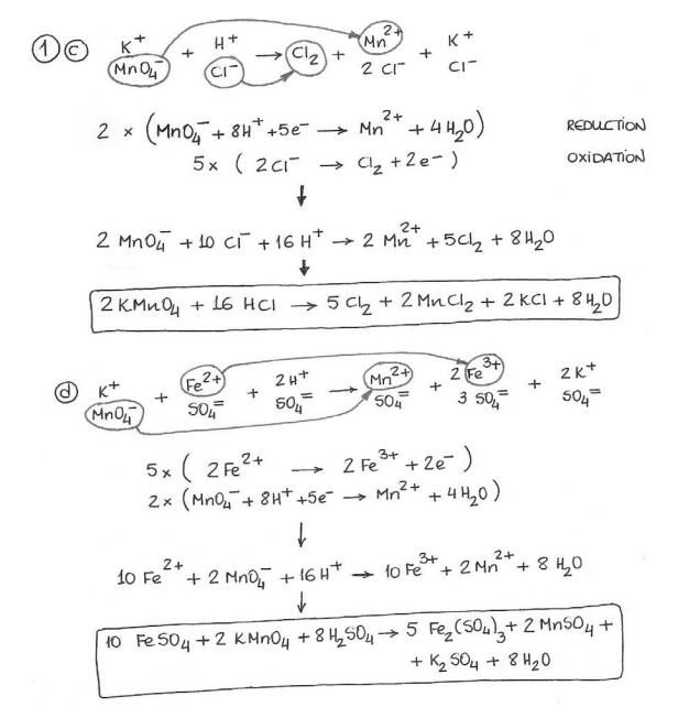 Redox reaction by Ion electron method – Balancing Redox Equations Worksheet