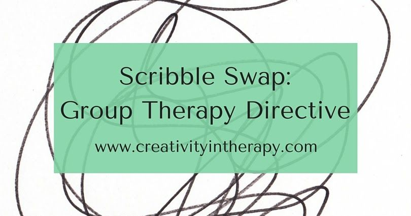Scribble Swap Art Directive For Group Therapy Arttherapy Art