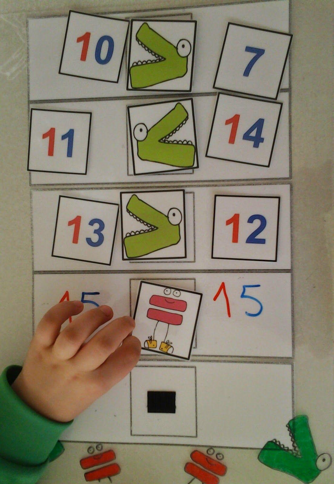 Los cocodrilos para comparar números es un recurso que he visto en ...
