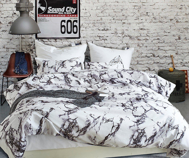 Amazon Com Amor Amore Marble Duvet Cover Sets 3 Pcs Modern Bedding Sets Twin Size Home Kitchen Marble Duvet Cover Modern Bed Set Duvet Cover Sets