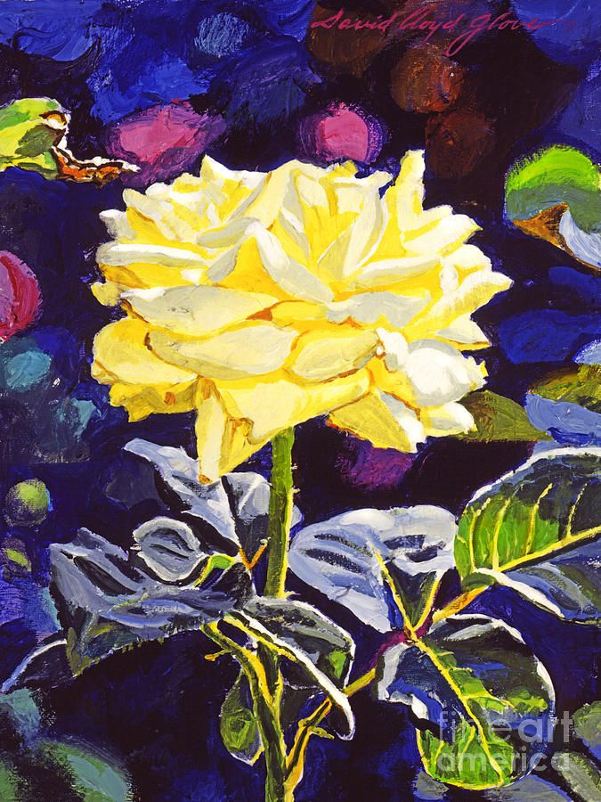 Golden Beauty By David Lloyd Glover Beauty Paintings Flower Art Art