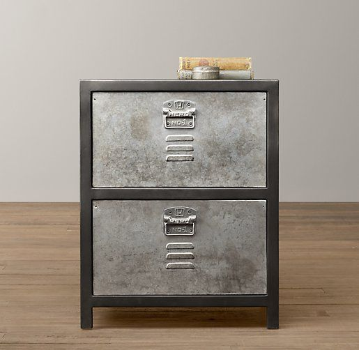 Best Vintage Locker Nightstand Nightstands Side Tables Restoration Hardware Baby Child 640 x 480