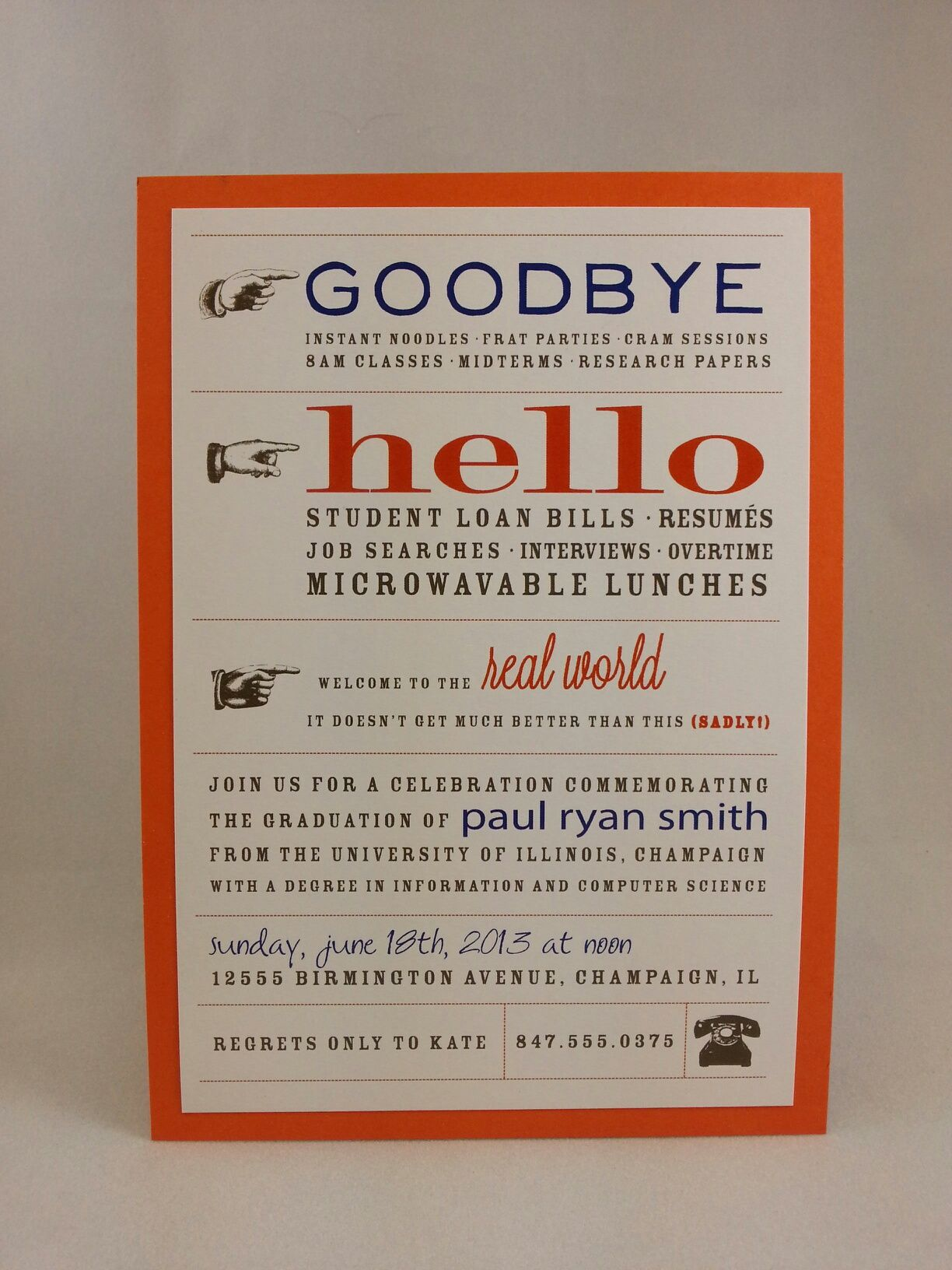 Great invitation for a college graduate Graduation Announcements