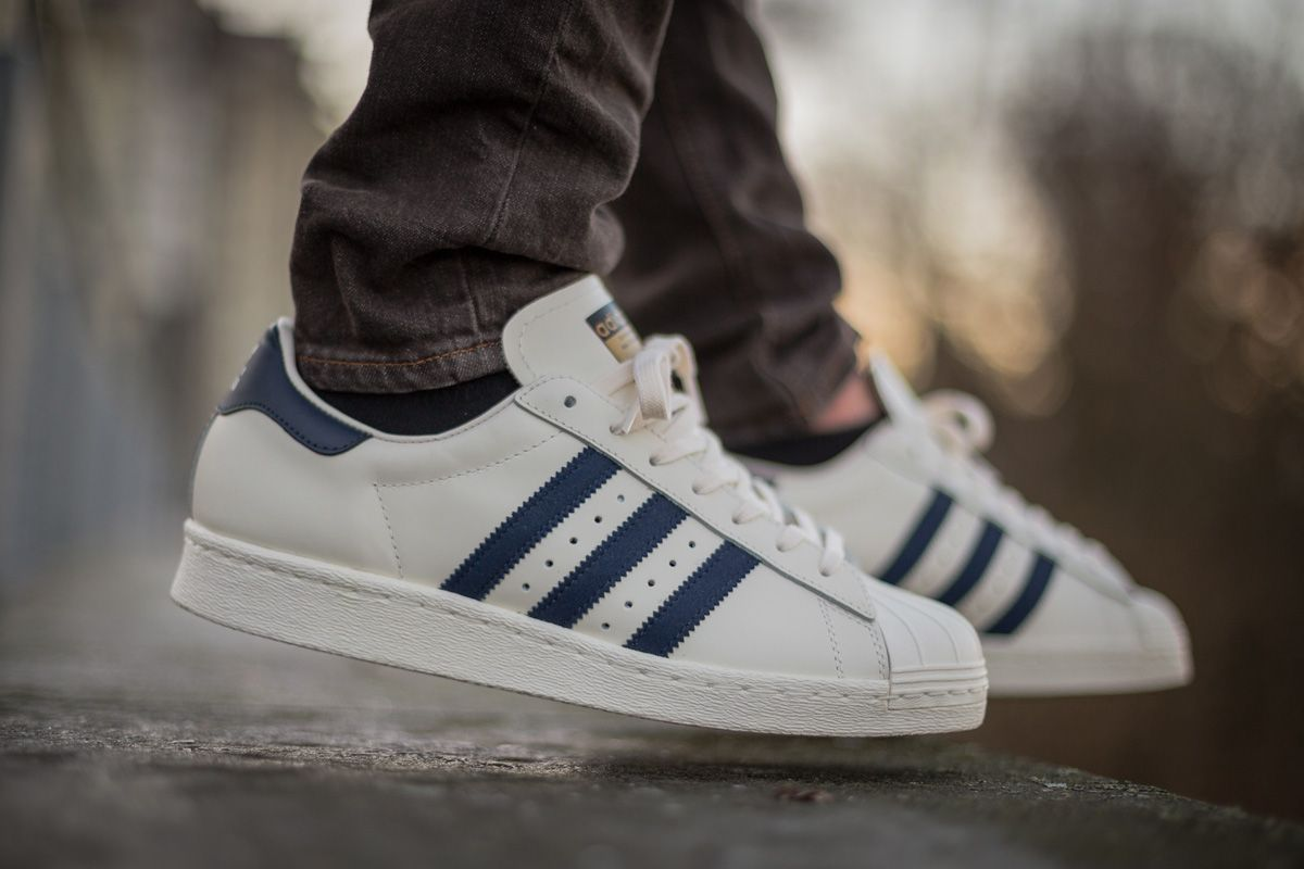 "adidas Superstar 80s DLX ""Collegiate Navy"""