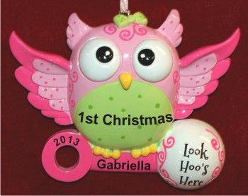 baby girl first christmas ornament 3 photo