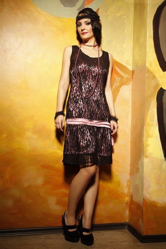 Black Custom Made 1920 Dress Style 20s Style Prom Dresses ...