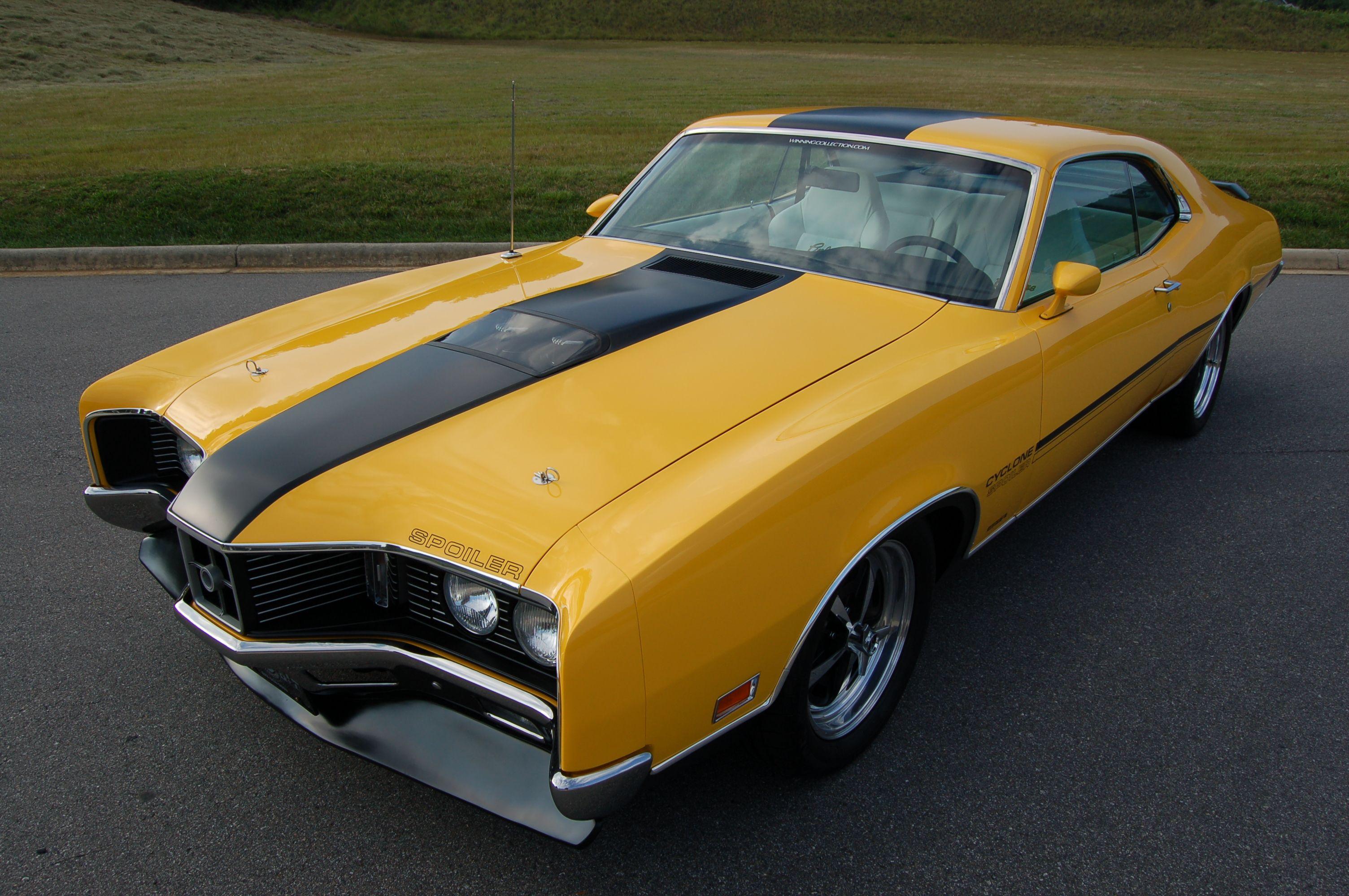 1970 Mercury Cyclone, Yellow & Black. Restoration, Resto