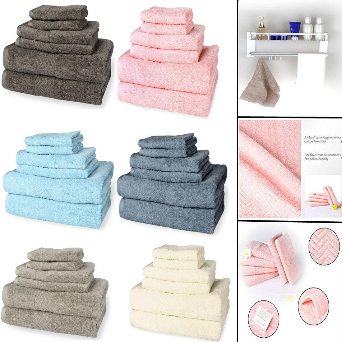 Details About Ultra Soft Absorbent Bathroom Towel Hotel Towels Set
