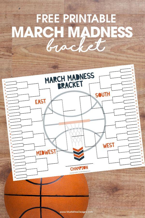 NCAA Free Tournament Bracket Basketball Madness Basketball