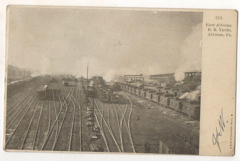 East Altoona Railroad Yards ALTOONA PA Vintage Railroad