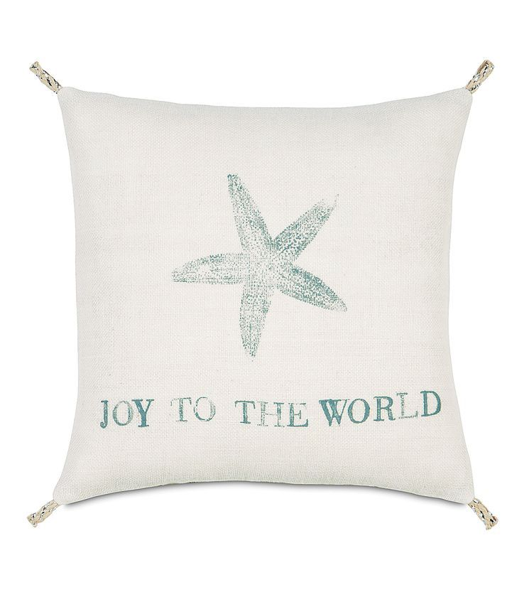 Coastal Tidings Festive Star Decorative Pillow