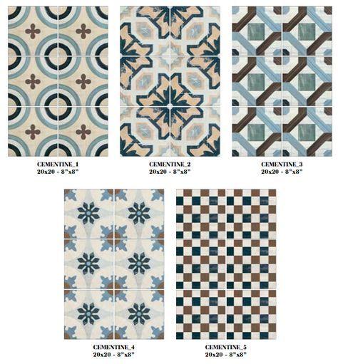 Imitation en grès cérame de carreaux ciment Cementine color - Terre de Bain | Tegels, Badkamer ...