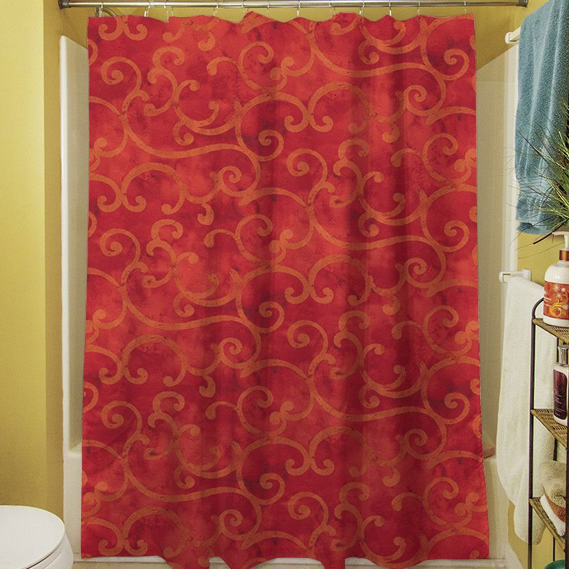 Zinnia Damask Single Shower Curtain Products Curtains Gold