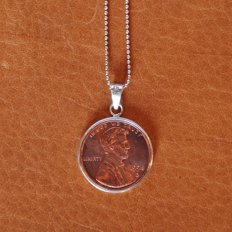 Sterling Signature Penny Necklace