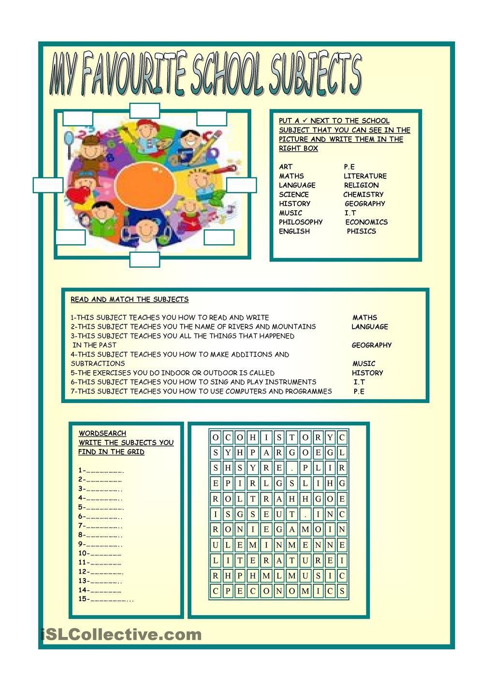 MATERIE SCOLASTICHE 1   English   Pinterest   English, School and ...