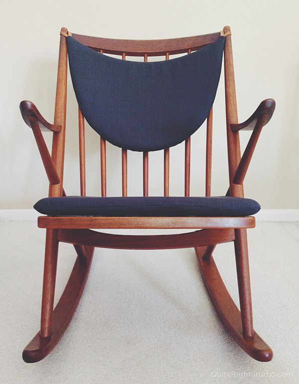 Creative Chair Cover Using Leather Loops To Hang It From The Spines Diy Rocking Chair Rocking Chair Cushions Rocking Chair