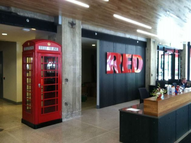 Red Telephone Booth In Office Google Search Office