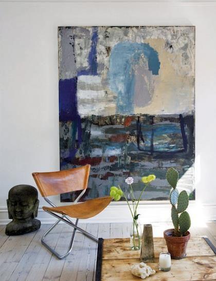 una pintura en la sala