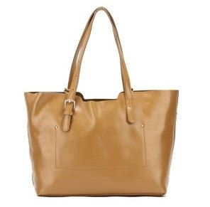 beige candy classic style soft genuine leather tote by starbag, $49.59