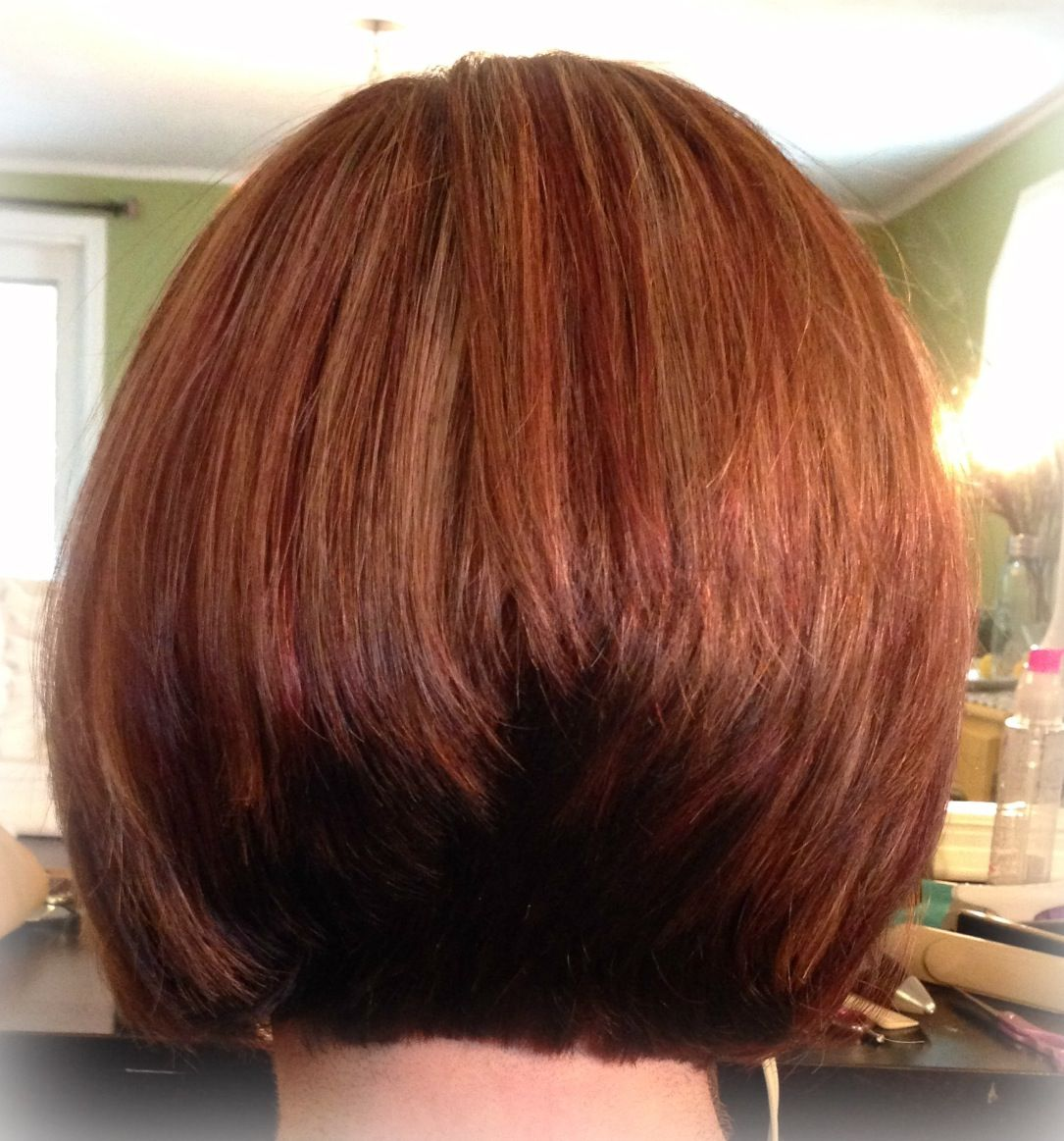 Red, brown, blonde/ inverted bob | Hair by Jess | Hair ...