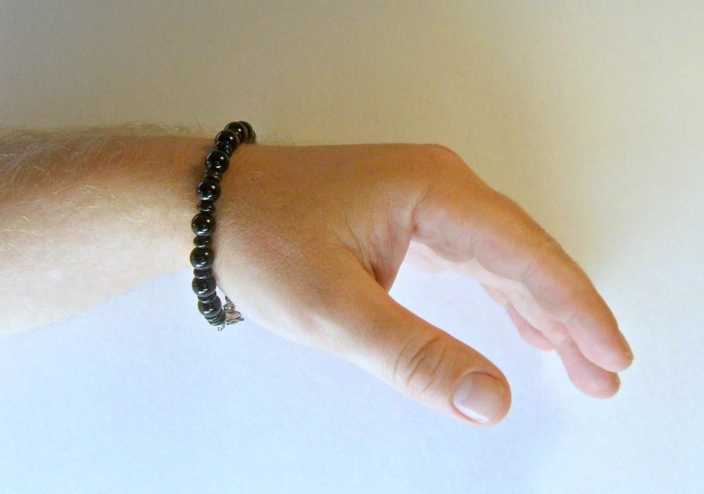 Men's Black Onyx Beaded Bracelet