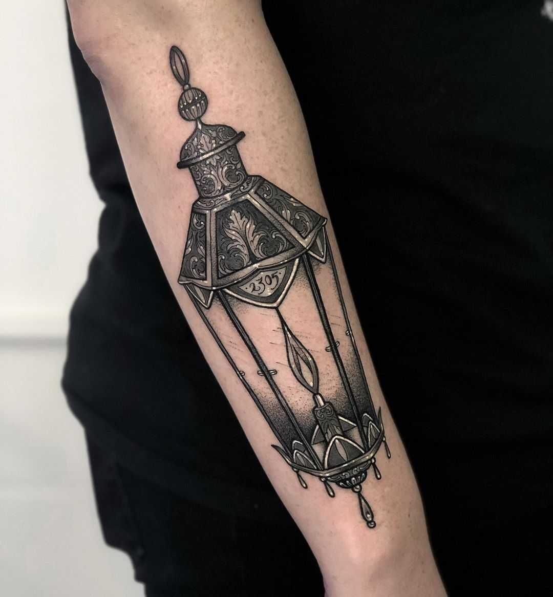 Lantern tattoo by Lozzy Bones (With images) | Lantern ...
