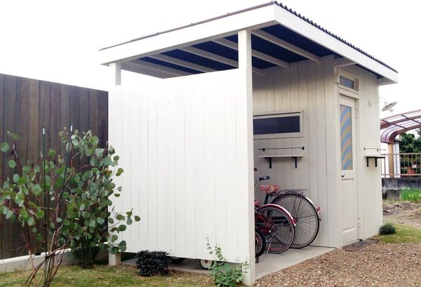 オリジナル木製自転車小屋 物置小屋 おしゃれ 自転車小屋 自転車 屋根