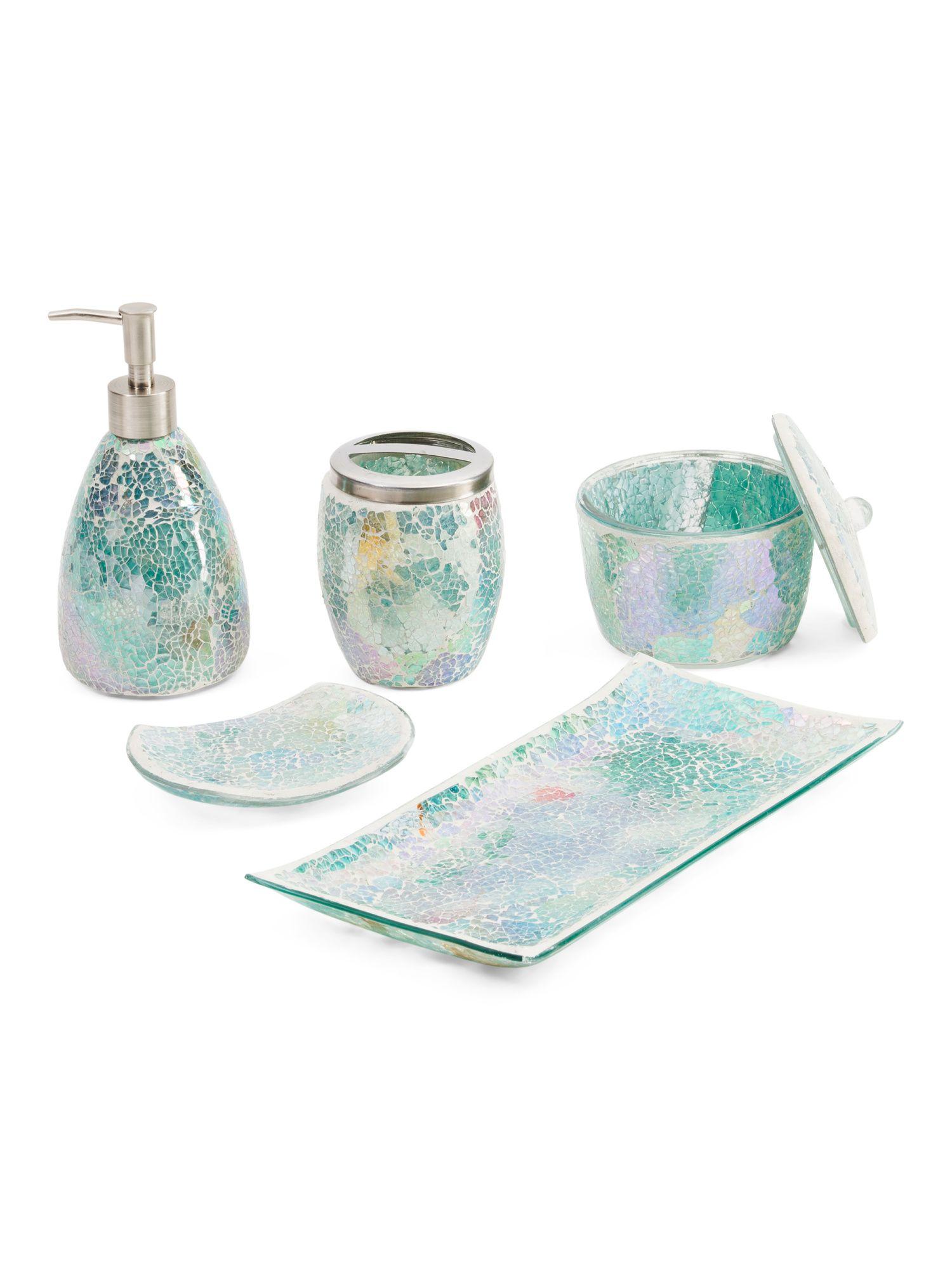 Iridescent 5pc Bathroom Set Bath T J Maxx Bathroom Sets Jar
