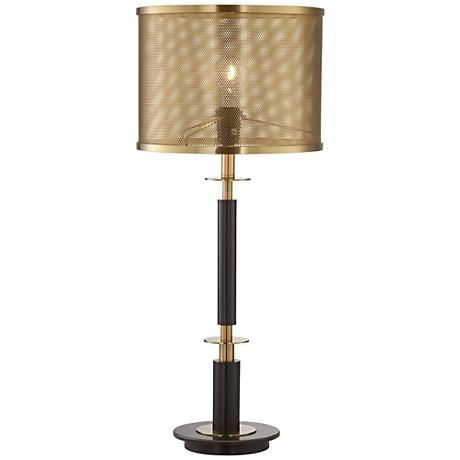 Volt Gray Bronze And Antique Brass Table Lamp 9t593 Lamps Plus Brass Table Lamps Bronze Table Lamp Lamp