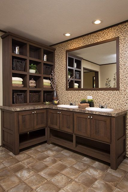 Mobile home remodeling ideas mobilehome re born - Manufactured home bathroom vanity ...