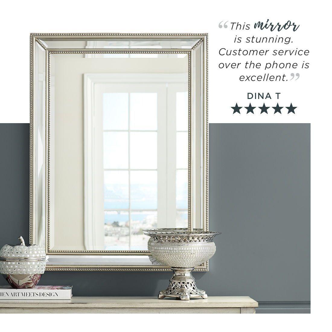 Uttermost Palais Silver 30 X 40 Beaded Wall Mirror 6d394 Lamps Plus Mirror Wall Silver Wall Mirror Decor Interior Design
