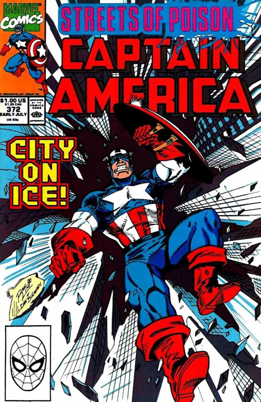 O Capitão América de Mark Gruenwald. Arte de Rom Lim.