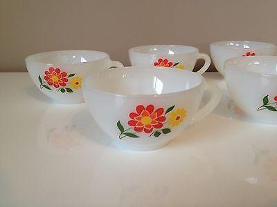 6 tasses à café Arcopal - décor fleurs - Vintage - french coffee cup in Céramiques, verres   eBay