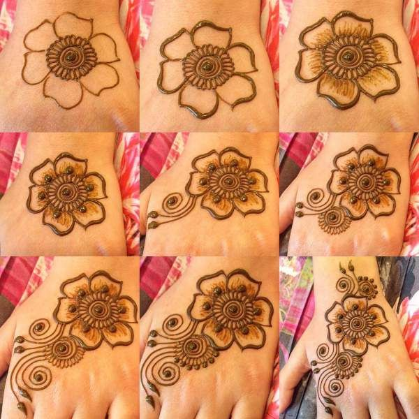 Easy And Simple Henna Mehndi Design For Beginners Hope You Like