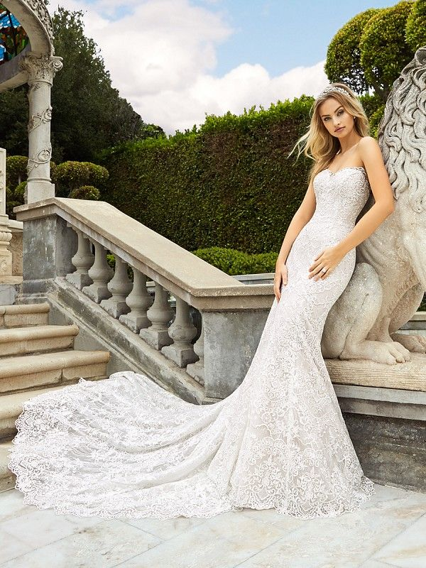Lace Open Back Wedding Dress Moonlight Style H1348 Weddingdress Lace Wedding Wedding Dresses Wedding Dress Couture Lace Mermaid Wedding Dress