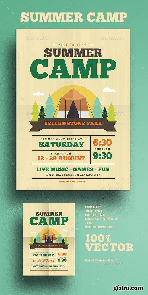 Graphicriver  Summer Camp Flyer   Gfxtra