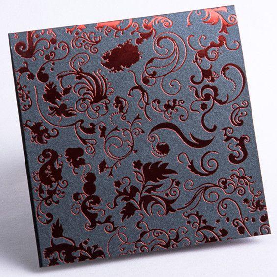 edel einladungskarten für hochzeit mit klassischen ornamenten, Einladung