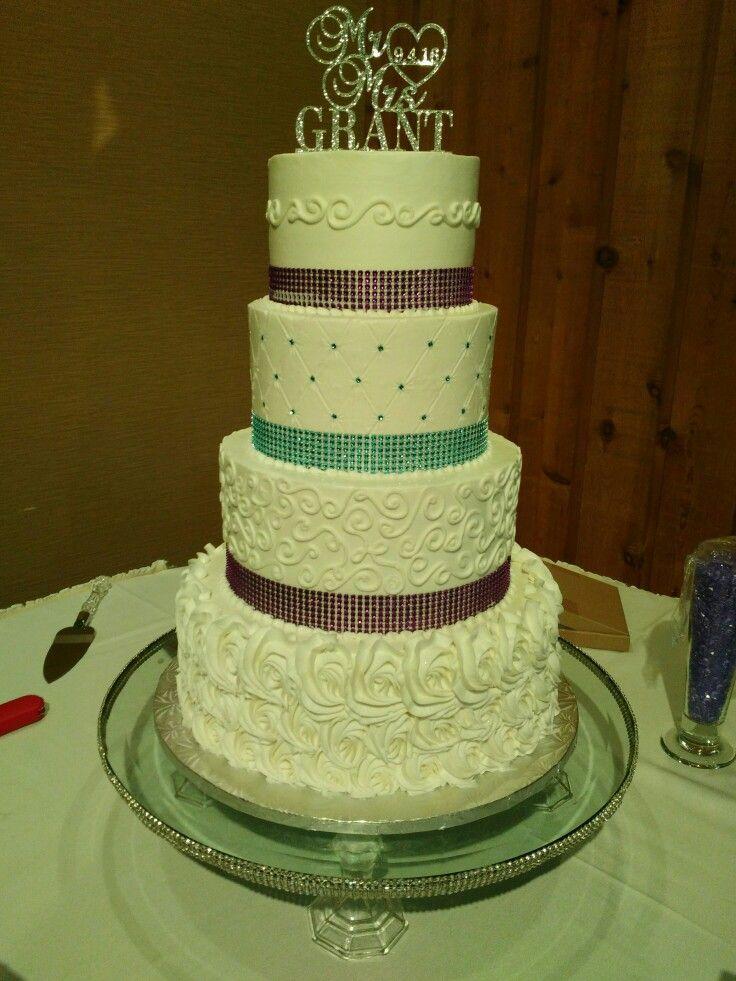 Beautiful sparkly buttercream wedding cake - no fondant in sight ...