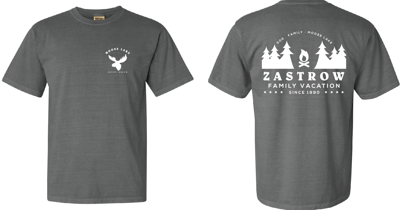 9153385d Family reunion | lake shirt design | comfort colors | grey | moose lake |  get together | esokol@marktsolutions.com