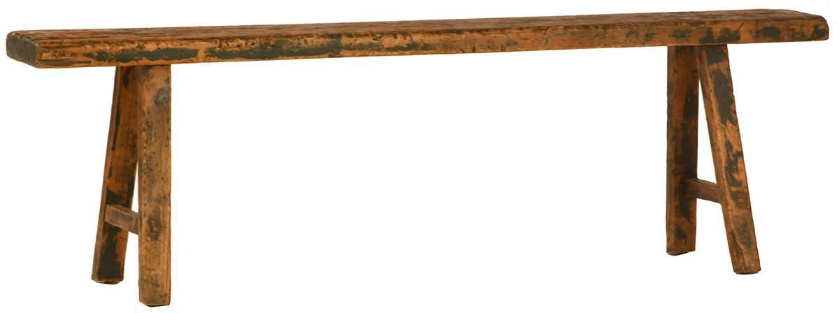 Chinese Antique Elm Bench on Chairish.com