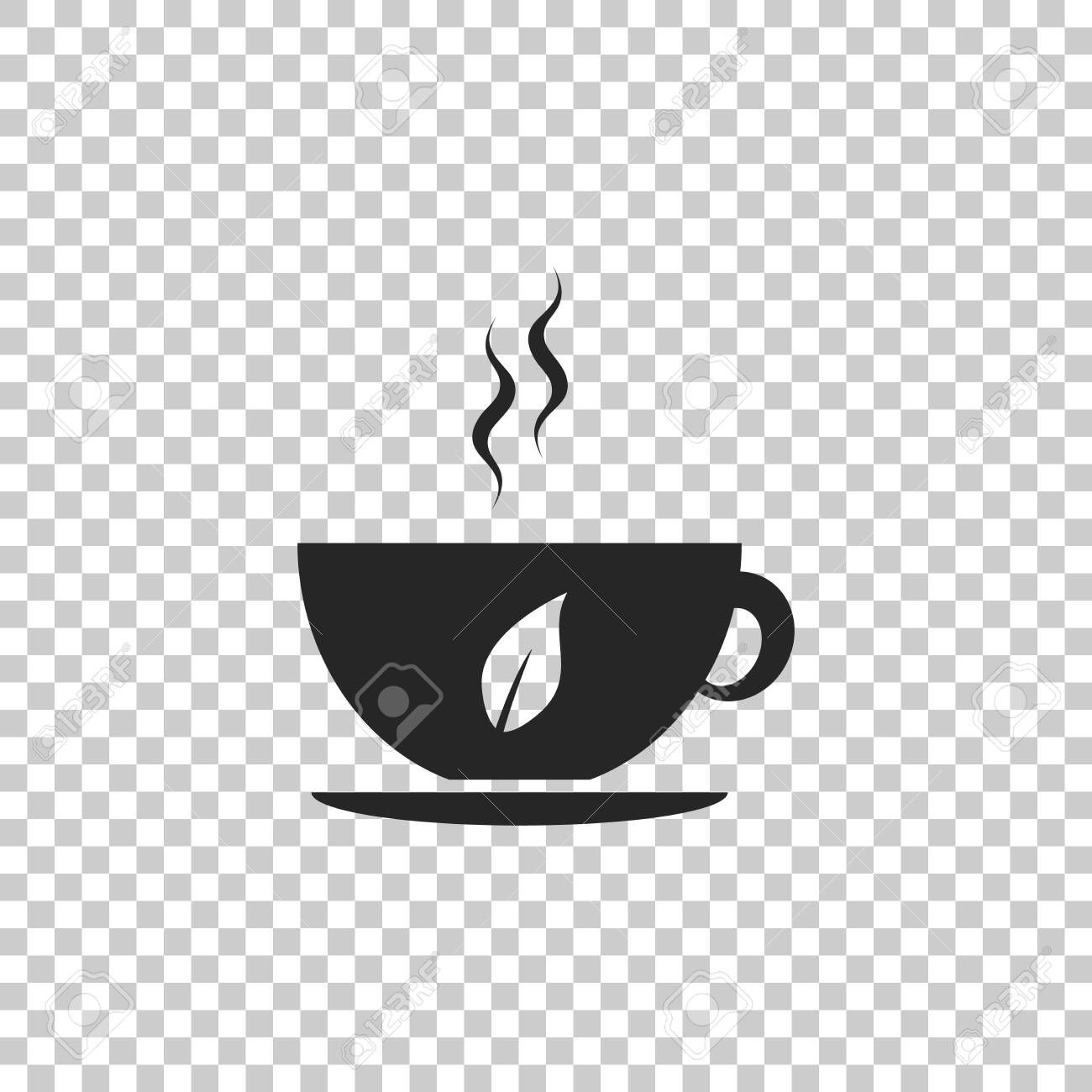 cup of tea and leaf icon isolated on transparent background flat design vector illustration aff icon cute designs to draw designs to draw cute designs pinterest