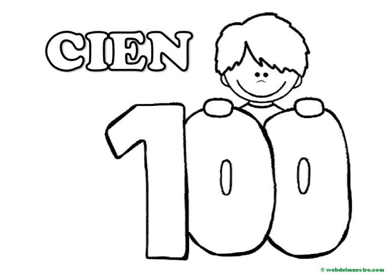 Numero 100 Para Colorear Material Didactico Para Ninos Web Del Maestro Ingles Para Ninos