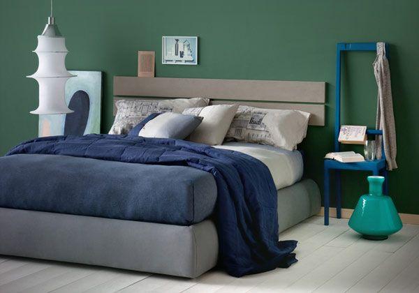 Testiera verde su pinterest camere da letto grigio verde for Camera da letto matrimoniale verde