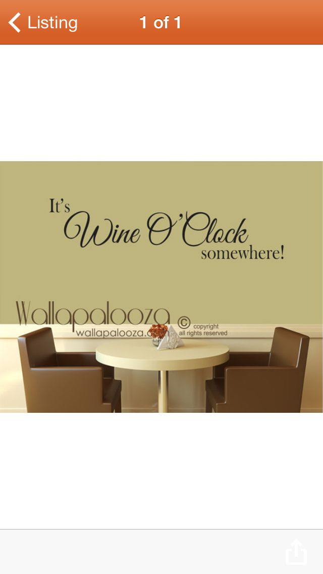 It\'s WINE O\' CLOCK decal | All you need is wine | Pinterest | Wines