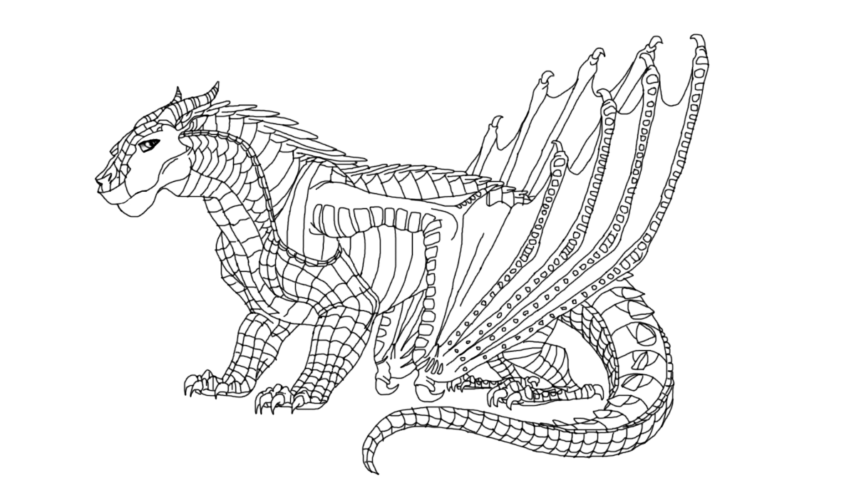 Mudwing Base Male Dragon Coloring Page Cool Coloring Pages Moose Art